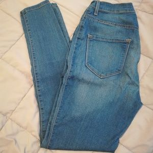 High Waisted Blue Jeans | Medium Wash